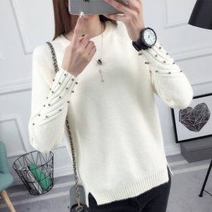 OHCLOTHING 2018 new spring Korean Short all-match winter sweater knitted shirt with long sleeves and loose women-lilugal