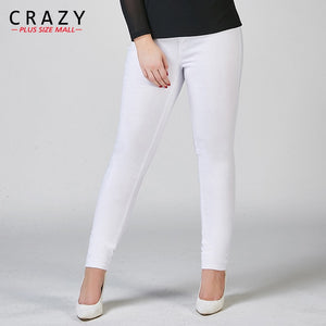 New Plus Size Fat 40-100kg Women Summer Skinny Denim Jeans For Female Black White Skinny Jeans Stretch Pencil Pants C919-lilugal