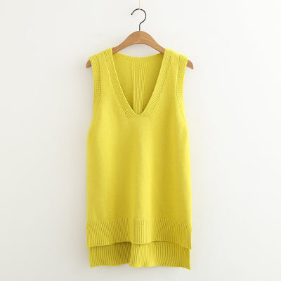2018 Spring Summer O Neck Women Sweater Vest Sleeveless Knit Female Cotton Soft Elastic Solid Colore Pullovers-lilugal