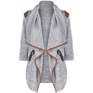 Chamsgend Newly Design Women Autumn Casual Turn Down Collar Long Cardigan Knitted Irregular Outwear Coat 70919 Drop Shipping-lilugal