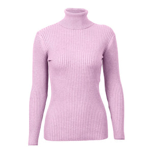 FATIKA 2017 Fashion Women Turtleneck Full Sleeve Brief Slim Pullovers Solid Elegant Knitted Skinny Sweater Jumpers For Ladies-lilugal