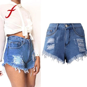 Shorts Women Plus Size S-XXXL Sexy Tassel Hole Crochet fower Hollow Out Denim Shorts Summer Beach Hot Mini Short feminino-lilugal