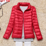 2017 fashion women keep warm Super light thin 90% White duck down jacket/femininity Stand collar Large size down coat-lilugal