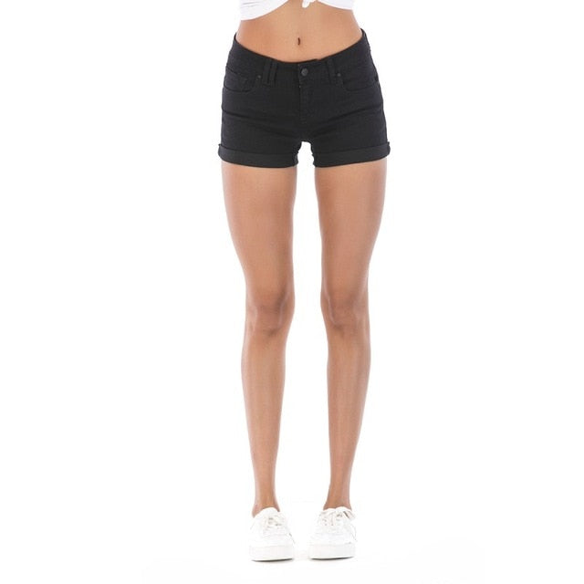 New Arrival Skinny Casual Shorts Denim Shorts for Women White Summer Shorts Girls 2018 Sexy Leg Curling Women's Short Jeans-lilugal