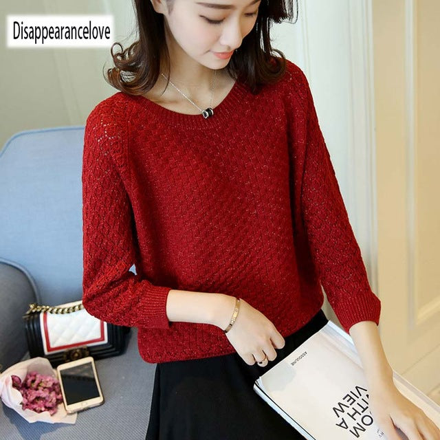 2018 New Fa cashmere sweater women's casual long-sleeved shirt sweater hedging thick autumn and winter sweater woman-lilugal