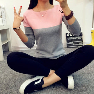 TIGENA Autumn Winter Sweater Women 2018 Knit High Elastic Jumper Women Sweaters And Pullovers Female Black Pink Tops Pull Femme-lilugal