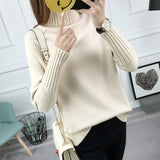 Gogoyouth Winter Sweater Women Turtleneck 2018 Long Sleeve Tricot Women Sweaters And Pullovers Female Knitted Jumper Jersey Tops-lilugal