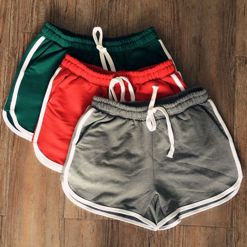 Summer Korean Style Women Clothes Leisure Elastic Waist Drawstring Shorts With Pocket Female Casual Short Feminino Fitness-lilugal