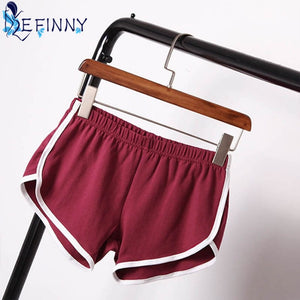 2018 Best Selling Summer Shorts Women Casual Cotton Cozy Multi Solid Colors Breathable Waistband Elastic Waist Skinny Shorts-lilugal