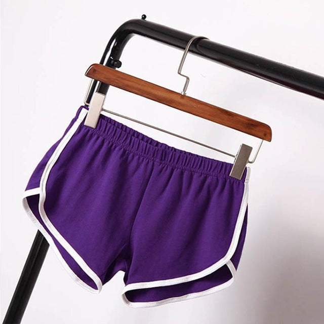 Summer Street Fashion Shorts Women Elastic Waist Short Pants Women All-match Loose Solid Soft Cotton Casual Short Femme-lilugal