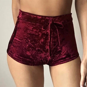 Softu Women Velvet Hot Shorts Fashion Sexy Bodycon Workout Flannel Short Pants Feminino Pantalones Mujer Fitness Soft Sportwear-lilugal