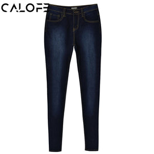 CALOFE 2018 Fashion Jeans Woman High Waist Vintage Slim Fit Elastic Skinny Pencil Pant Plus Size 7XL Mom Jeans Trousers 3XL-lilugal