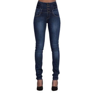 NIBESSER New Woman Denim Pencil Pants Brand Stretch High Waist Black Jeans Pants Elastic Skinny Denim Long Pencil Pant Plus size-lilugal