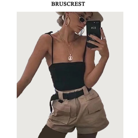High waist shorts women summer sweatpants casual femininobiker shorts korean style women fashion clothing 2018-lilugal