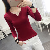 PEONFLY Sweater Women Knit High Elastic Jumper Women Sweaters And Pullovers Female Pull Femme Tops Jersey Autumn Winter-lilugal