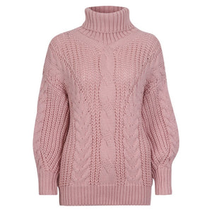 Oxdra Sweaters Women 2018 Autumn Winter Female Turtleneck Casual Loose Ladies Knitted Jumpers Pullovers Women's Clothing-lilugal