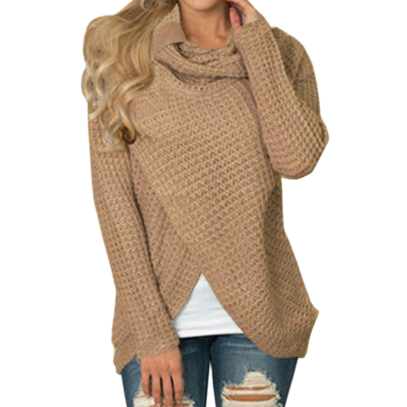 Casual Female Sweaters Long Sleeve Autumn Pullovers Knitting Warm Button Sweater Plus Size Knitted Winter Women Tops GV293-lilugal