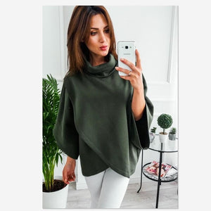 2018 autumn fasion full turtleneck Sweater fasion flare sleeve the new Keep warm Sweater pullovers streetwear Sweater-lilugal