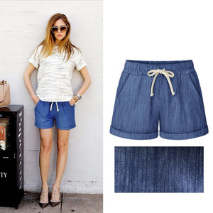 2018 Summer Cotton Shorts Women Fashion Casual Short Pants Loose Slim Female shorts Plus Size M-6XL-lilugal