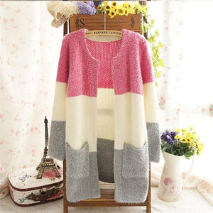 Hot Women Sweaters 2016 Autumn Winter Casual Cardigan Fashion Knitted Solid Slim Lovely Sweaters Elegant Candy Colors Cardigans-lilugal