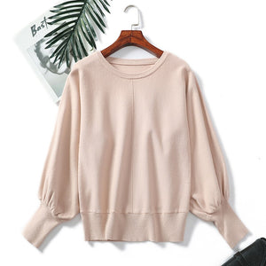 Sweater Women Pullover Knitted Winter Women Sweaters 2018 Autumn Women Fashion Lantern Sleeve Casual Plus Size Sweater Jumper-lilugal