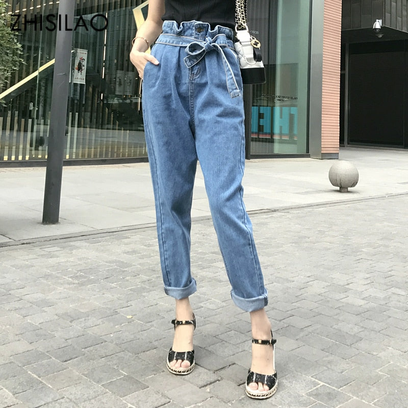 ZHISILAO 2018 Jeans Woman Jeans Denim Pants Jeans Harem Pants Woman Trousers Woman Pantalon Mujer Casual Pants High Waist-lilugal