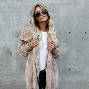Fur Cardigans Women Long Sleeve Oversize Winter Casual Loose Coverup Tops Autumn Coat Female Sweaters Plus Size 3XL LD1166-lilugal