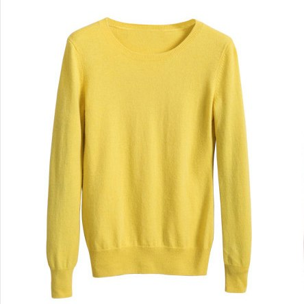 Sparsil Women O Neck Cashmere Sweater Long Sleeve Wool Pullovers Female Solid Color Knitted Sweaters Spring Autumn Tops-lilugal