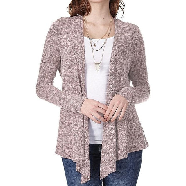 Fashion Women Knitted Cardigan Coat Autumn Winter 2018 Casual Long Sleeve Knit Sweater Coat Female Tops WS9136V-lilugal