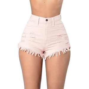 NIBESSER casual shorts women Fashion High Waist Denim Short Summer Sexy Button Pockets Skinny Jean Women Shorts Black 2018 new-lilugal