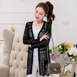 The new spring coat women's clothing han edition of the new 2018 long loose knitting cardigan sweater in spring-lilugal
