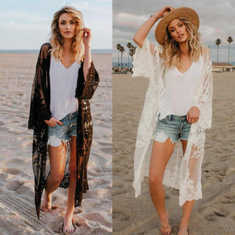 2018 New listing Women Lace Bohemian Beach Long Oversized Kimono Coat Make the 2018 Most Exploded Outerwear 18July2-lilugal