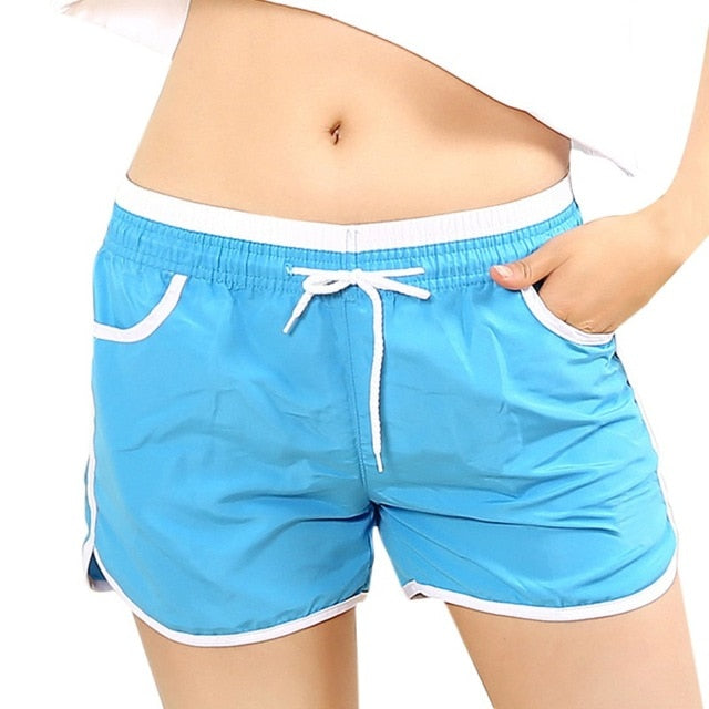78207333c9c26 New Light Color Women Swim Short Solid Quick Dry Womens Swimming Shorts  Beach Board Shorts Swimsuit