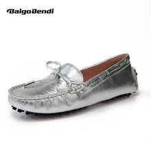 Charger l'image dans la galerie, Women US Size 5 6 7 8 9 New Gold silver REAL Leather Driving shoes