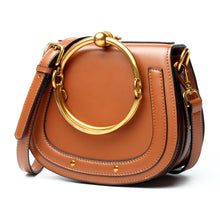 Charger l'image dans la galerie, Women Round Handle Genuine Leather bag