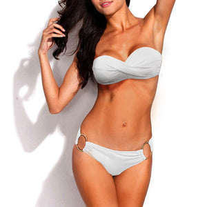 Women Sexy Bikini Two Pieces Push Up Swim Suit