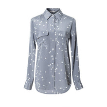 Charger l'image dans la galerie, Women 100%Silk Crepe Button Star Printed Shirt 2019