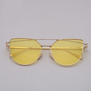 Women Vintage Metal Reflective Glasses