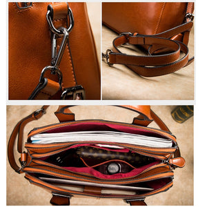 TOPO Real Cow Leather Ladies HandBags
