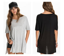 Charger l'image dans la galerie, Women Loose Summer t Shirts & Side Splits Plus Size