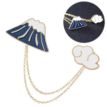 Charger l'image dans la galerie, Creative Brooch Enamel Mountain Cloud Suit for Hat Jacket Sweater