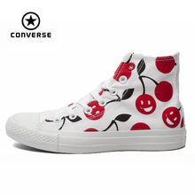 Charger l'image dans la galerie, Original Converse all stars graffiti white canvas shoes