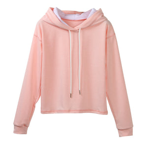 Womens Long Sleeve Hoodie Sweatshirt Top