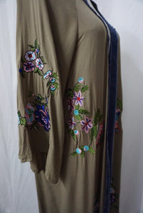 Women Long Floral Embroidery Long Cardigans
