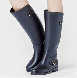 Women Knee-high Rain BootsTall Buckle