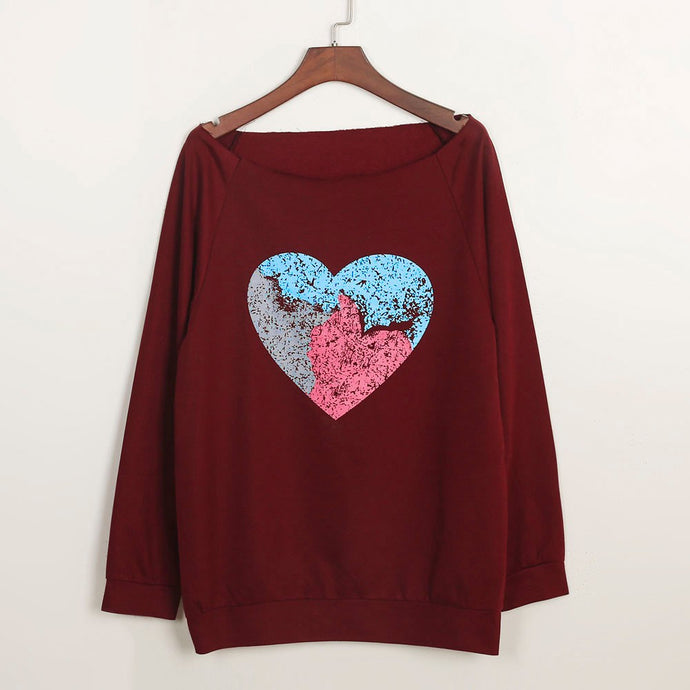 Women Heart Printed Tops