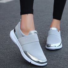Charger l'image dans la galerie, Women Slip On Metalic Details Loafers Sneakers