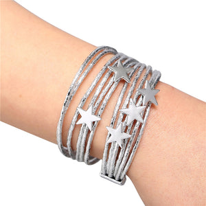 Women 3 Color Star Multiple Layers Bracelets
