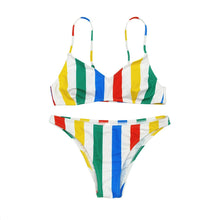 Charger l'image dans la galerie, Women's Multicolor Striped Women's Swimsuit Bikini