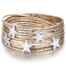 Charger l'image dans la galerie, Women 3 Color Star Multiple Layers Bracelets